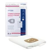 Универсальные синтетические фильтр-мешки Euroclean для пылесоса, размер 400х500 мм, диаметр фланца 58-70 мм, 5 шт