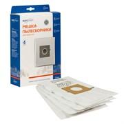 E-07/4 Мешки-пылесборники одноразовые синтетические повышенной фильтрации, 4 шт, для пылесоса LG, CAMERON, CLATRONIC, MOULINEX, POLAR, SCARLETT