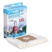 AP-08 Мешки-пылесборники бумажные повышенной фильтрации, 5 шт, для пылесоса LG, LIV, ROLSEN