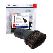 Насадка для профессионального пылесоса универсальная Ozone с длинным натуральным ворсом для мебели, под трубку 32 и 35 мм